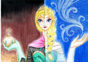 Elsa/Snow Queen by Draconine