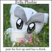 Fella plushie putting feet up by DA-Fella-Club