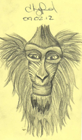 Doodle of the Day, Baboon, Baakir by Hazey1988