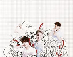 EXO Graphics. Hunhan 2 by kamjong-kai