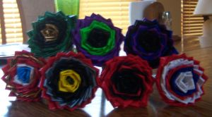 Avengers Duct Tape Flower Pens by LishaChan