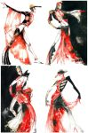 Rouge et Noir - Fashion sketch by Callista1981