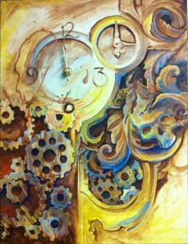 Steam punk clock by Tattoosbyraven