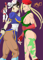 Chun-li vs Cammy - Face to Face by Jhonthestampede