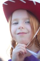 child with cowboy hat by Dom410
