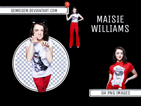 Maisie Williams - Png Pack by gemiegem
