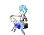 Grimmy chan on a bike by Pri-ThePuppeteer