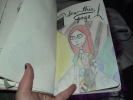 Wreck This Journal Unfinished Page - 1 - WIP by mysticdragon666