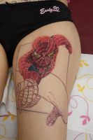 spiderman tattoo wip by graynd