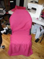 Fuschia Folding Chair Cover by kayanah