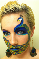 Peacock Face by throughtherain67