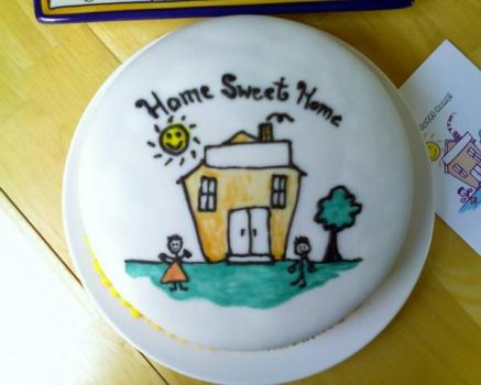 Home Sweet Home Cake by luzglez85