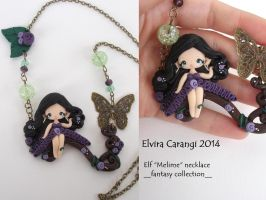 Elf Melime necklace available On etsy by elvira-creations