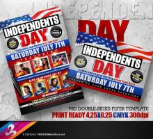 Independents Day Flyer Template by AnotherBcreation