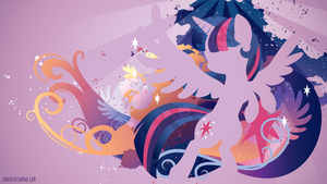 Princess Twilight Silhouette Wall by SambaNeko