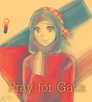 Pray for Gaza by Hontone-Nala