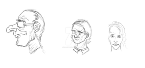 Face Sketches 2 by Keisarinvaimo