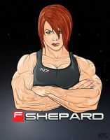 Video Game Muscle - Mass Effect by Mercalicious