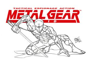 Inked - Grey Fox MGS by LloydBridgemanInk