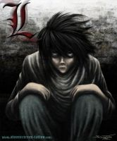 L from Death note by AtomiccircuS