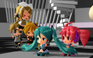 My nendoroid models~! X3 by Vocalizer