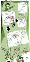 Hand drawing tutorial by ricee-ball