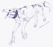 Thylacine sketch COM by Darkside-Cookie