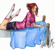 Lissy-Bored on Bed by LadyGhostDuchess