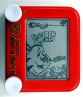Frosted Flakes Etch-a-Sketch by bryanetch