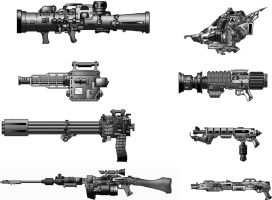 Weapon Drawings, Page 2 by juanosarg