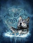 Celtic Wolf by brigidashwood