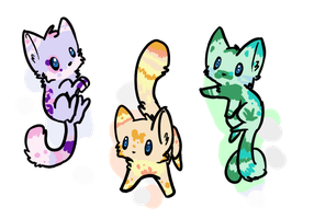 Mini Feline Adopts 1 [0/3 OPEN] by StarlightGift-Adopts
