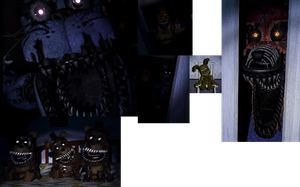 FNaF 4 Trailer - All Animatronic Instances by F-ltz