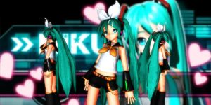 Miku Rin Style Dt by GrayFullbuster21