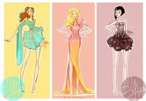 Hunger games fashion: The careers (commish) by Vilva