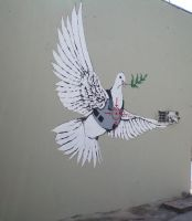 bulletproof dove - banksy by gunknight1