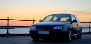 vw golf hdr at sunset by lens-boy