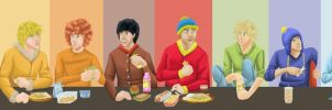 Paint With All the Colors of the Lunchline by Zteif