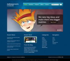 notsogeneric web template by acidflow