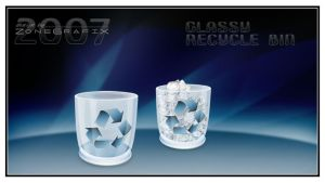 Glassy Recycle Bin by ZoneGrafix