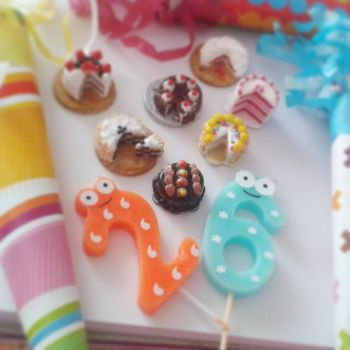 Polymer clay happy brithday cakes by ionescudiana