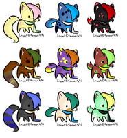 Scarf kitty adoptables CLOSED by DinowAdopts