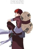 Gaara coloured by aeris5312