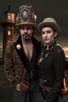 steampunk golddsss by cosplayoverlord