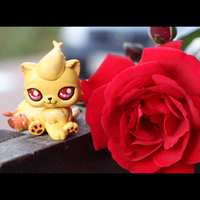 Custom #136: Ninetales Littlest Pet Shop custom by pia-chu