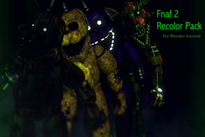 Fnaf 2 Withered Recolor PACK FULL DOWNLOAD by CoolioArt