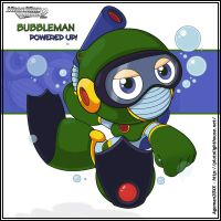 Bubble Man Powered Up + by Ageman20XX