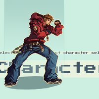 Fighting Game Self Portrait by vins-mousseux