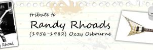 Tribute To Randy Rhoads Banner by tayzar44