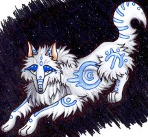 Tribal Dream Wolf by FullMoonLullaby